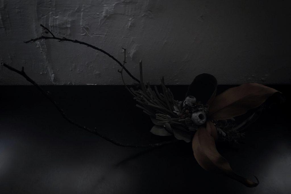 花活けの残り枝,display
