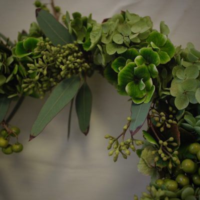 Greenwreathe,グリーンと枝ものナチュラルリース,サンキライ