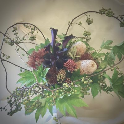 花,お洒落な花束,ブーケ、カラーのブーケ