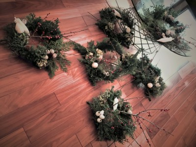 Christmas wreath,Lesson,design