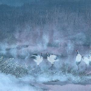 夜明けの雪裡川